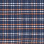 Orange, and Navy Plaid Fabric | Wholesale Plaid Fabric