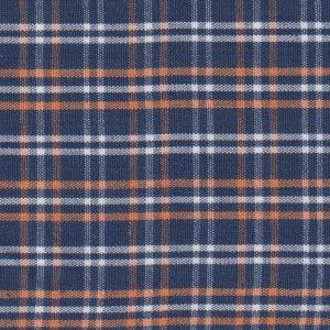 Orange, and Navy Plaid Fabric | Wholesale Plaid Fabric
