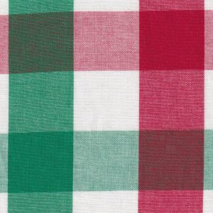 Christmas Check Fabric - #T114 | Tattersall Check Fabric
