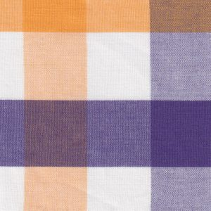 Purple and Gold Plaid Fabric - #T115 | Tattersall Check Fabric