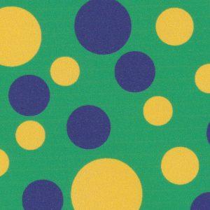 Purple and Gold Polka Dot Fabric | Wholesale Polka Dot Fabric