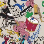 New Orleans Music Fabric: Jazz Musicians and Instruments | Cajun Fabric