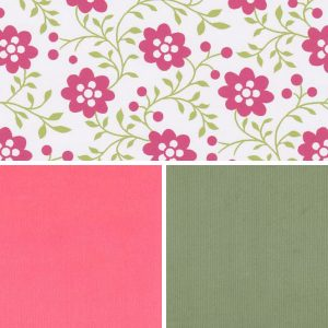Floral Fabric Collection - Coral and Leaf | Floral Print Fabric