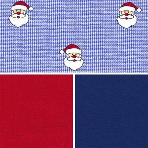 Santa Print Fabric Collection