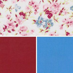 Floral Fabric Collection - Red and Royal | Floral Print Fabric
