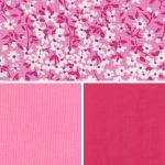 Floral Fabric Collection - Pink and Raspberry | Floral Print Fabric