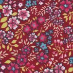Red, Blue and Yellow Floral Fabric: 100% Cotton | Floral Fabric Wholesale