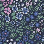 Blue, Pink and Green Floral Fabric: 100% Cotton | Floral Fabric Wholesale