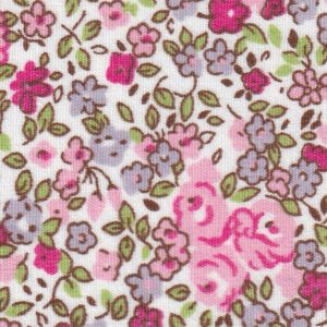 Pink and Lavender Floral Fabric