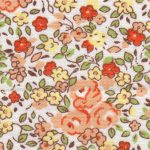Orange and Yellow Floral Fabric