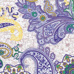 Mardi Gras Paisley Fabric