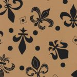 Black Fleur-de-lis Fabric: Black and Bronze | New Orleans Fabric