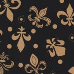 Fleur-de-lis Fabric: Black and Bronze | New Orleans Fabric