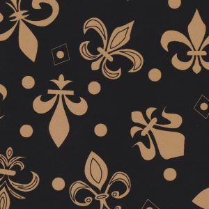Fleur-de-lis Fabric: Black and Bronze   New Orleans Fabric