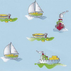 Boat Print Fabric Print #2358   Nautical Themed Fabric