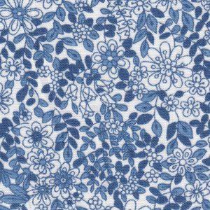 Blue Floral Fabric: 100% Cotton   Floral Fabric Wholesale