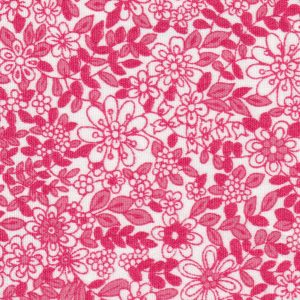 Pink Floral Fabric: 100% Cotton | Floral Fabric Wholesale