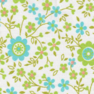 Turquoise, Lime and Orange Floral Fabric   Floral Fabric Wholesale