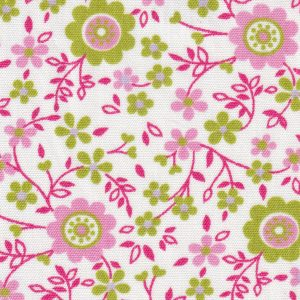Pink, Lime and Lilac Floral Fabric   Floral Fabric Wholesale