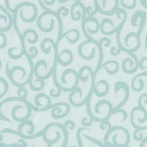 Green and White Pattern Fabric