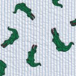 Alligator Seersucker Fabric | Alligator Fabric - 100% Cotton