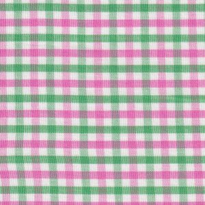 Pink and Green Check Fabric