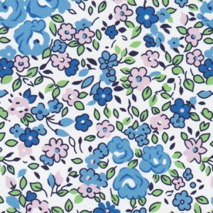 Blue and Pink Floral Fabric | Floral Fabric Wholesale