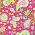 Pink and Lime Green Paisley Fabric | Wholesale Paisley Fabric