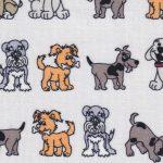 Puppy Dog Fabric - 100% Cotton | Dog Pattern Fabric