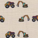 Construction Theme Fabric: 100% Cotton | Construction Vehicle Fabric