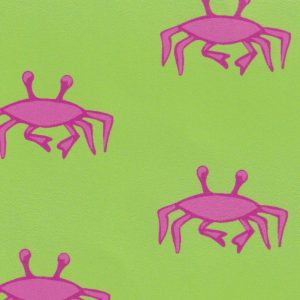 Crab Fabric: Hot Pink and Lime | Nautical Fabric Wholesale