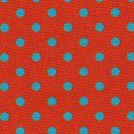 Turquoise Polka Dots: Orange Fabric | Wholesale Polka Dot Fabric