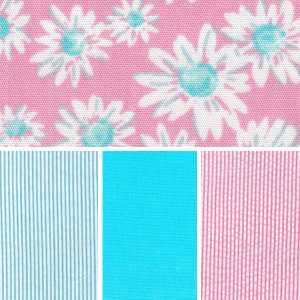 Floral Fabric Collection – Pink and Turquoise
