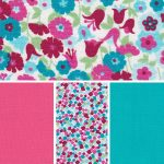 Floral Fabric Collection – Geranium and Turquoise
