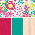 Floral Fabric Collection – Raspberry and Aruba