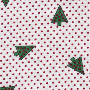 Christmas Tree Fabric: Green and Red | Holiday Fabric