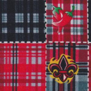 Fleur-de-lis and Chili Pepper Patchwork