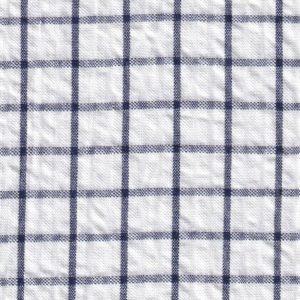 Navy Seersucker Fabric
