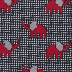 Elephant and Houndstooth Fabric