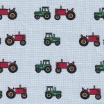 Tractor Print Fabric: 100% Cotton | Tractor Fabric Wholesale