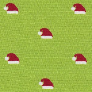 Santa Hat Fabric: Red, White and Green | Christmas Fabric Wholesale
