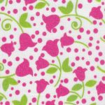 Pink and Green Tulip Floral Fabric