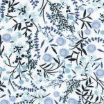 Blue Floral Fabric