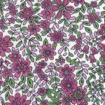 Raspberry Floral Fabric
