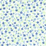 Blue and Green Floral Fabric