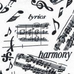 Sheet Music Fabric