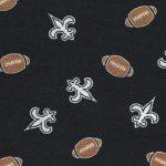 Fleur-de-lis and Football Fabric