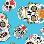 Sugar Skull Fabric - 100% Cotton   Wholesale Cotton Fabric