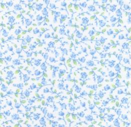 Blue Floral Fabric: 100% Cotton | Floral Fabric Wholesale
