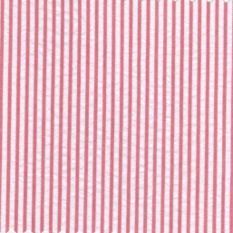 100% Cotton Seersucker Fabric | Striped Seersucker Fabric - Raspberry